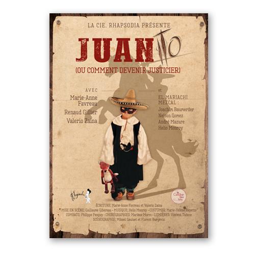 Cartel Teatro Juanito - Cie. Rhapsodia. R